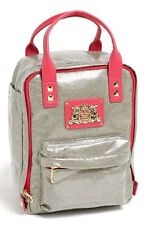 NWT JUICY COUTURE BRIGHT DIAMOND SILVER & HOT PINK BACKPACK MSRP $128.00