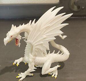 """Safari Ltd - White Snow Dragon Glow in The Dark Toy 6"""" Action Figure"""
