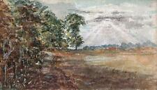 IMPRESSIONIST ENGLISH COUNTRYSIDE Watercolour Painting THOMAS J JONES c1910
