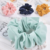 Trendy Lady Hair Scrunchie Ring Elastic Pure Color Bobble Sports Dance