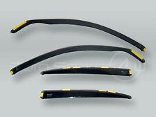 HEKO SEDAN Wind Deflectors Rain Guards 4pcs Set fits 2004-2009 BMW 5-Series E60
