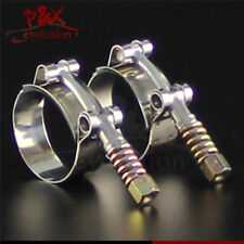 """2pcsx 1.74"""" - 1.96"""" Spring Stainless Steel T-Bolt Silicone Hose Clamps (44-50mm)"""