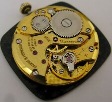 Baume & Mercier 1050 watch movement & dial 17 jewels for parts .