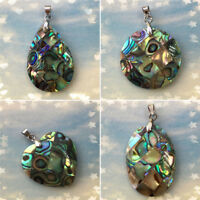 Natural Shell Teardrop Heart Shape Pendant For Jewelery Making DIY Craft Supply