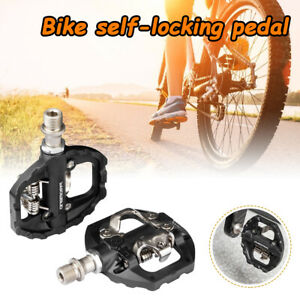 MTB Mountain Bike Single side Flat/SPD Self-locking Pedals and SPD Pedal Cleats
