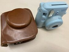 Fuji Instax Mini 8 Blue Instant Camera with Brown Mudder Fitted Carry Case