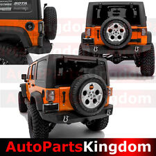 "07-17 Jeep JK Wrangler Rock Crawler Full Width Rear Bumper+2""Hitch+D-ring"