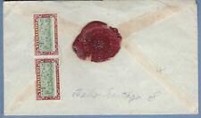 Guatemala 1949 & 1950 Regist-Ins Cover W/Wax Seal (Ws386)