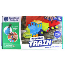 Educational Insights Design & Drill Train Building Construction Set
