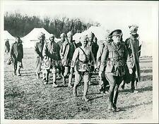 1914 World War I British Colonials Helping Original News Service Photo
