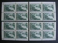 Canada 25c centennial Sc 465p MNH plate block matched set winnipeg tagged