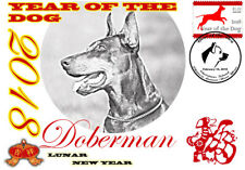 DOBERMAN 2018 YEAR OF THE DOG STAMP SOUVENIR COVER #2