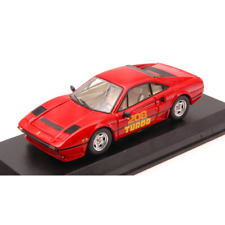 FERRARI 208 GTB TURBO 1980 RED 1:43 Best Model Auto Stradali Die Cast Modellino