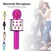 Handheld Wireless Bluetooth Karaoke WS-858 Microphones USB MIC Black KTV R2V0