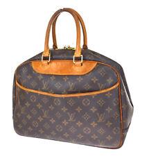 Authentic LOUIS VUITTON Deauville Hand Bag Monogram Leather Brown M47270 32SB373