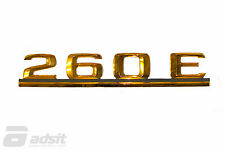 New Mercedes Benz Gold Rear Lid Designation Badge for 87-89 260E *1248171515