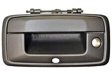 for Chevrolet Silverado GMC Sierra Tailgate Handle with Camera Hole Black