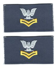 USCG Rate:  Petty Officer 3rd Class Cloth Collar Insignia (pair)