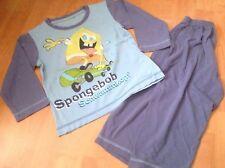 Spongebob Jungen Pyjama Set Oberteil + Hose Gr 98/104 Blau