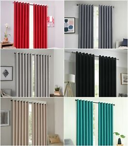 Hala Thermal Black out Ready Made Eyelet Ring Top Curtains