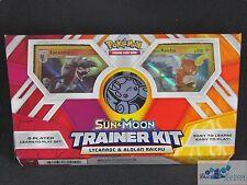 Pokemon Sun & Moon trainer kit learn to play starter decks cards Lycanroc Raichu
