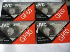 LOT DE 4 K 7 AUDIO (TAPE) JVC GI 60 IEC I TYPE I EQ 120us (SCELLEES)