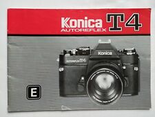 Konica T4 original printed instruction user manual guide book