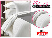 100% EGYPTIAN COTTON DUVET QUILT COVER SET SINGLE DOUBLE KING SIZE BEDDING SET
