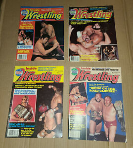 Vintage 1980's Wrestling Magazines, Lot Of 9 Issues; Lot #1