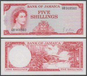 Jamaica - Elizabeth II, 5 Shillings, L. 1960 (1964), UNC, P-51(d)