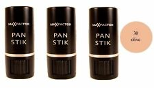 3 x Max Factor Panstik Foundation 9g - 30 Olive