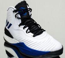 Adidas Mens D Rose 8 White Lace Up Basketball Shoes Uk Size 9.5