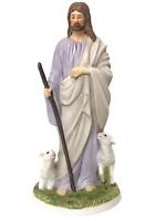 "Jesus The Shepherd HOMCO Masterpiece Porcelain Figurine 1992 Vintage 8 1/4"""