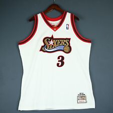 100% Authentic Allen Iverson Mitchell & Ness 97 98 Sixers Jersey Size 48 XL Mens
