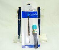 Nice Boxed Triple Parker Pen, Fountain Pen, Ballpoint & Pencil Set & Refills H1