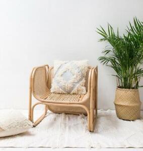 Langdon Boho Diamond Shag Throw Cushion Pillow Decor Bed Sofa Chair 50x50cm