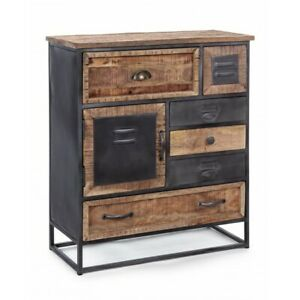 Chest of Drawers 1 Panel And 6 Drawers Rupert