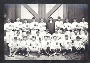 REAL PHOTO 1915 BOSTON BRAVES BASEBALL TEAM SPRING TRAINING POSTCARD COPY