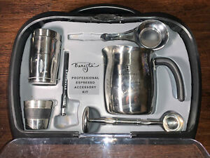 STARBUCKS BARISTA PROFESSIONAL ESPRESSO ACCESSORY KIT STAINLESS USED CONDITION