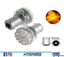 2 Ampoules BA15s P21W Phare avant arriere CLIGNOTANT Indicator ORANGE 24 LED 12V