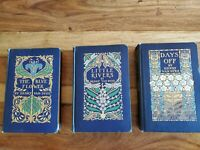 Henry Van Dyke lot of 3, 1902 Illustrated scribner 1st editions blue flower