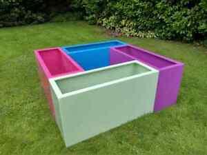 Large high quality indoor outdoor fibreglass planter pot ATLANTEAN 1200x435x625