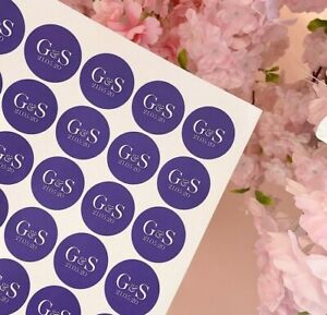 37/51MM Circle Kraft White Pink Sprinkle Throw Me CONFETTI Personalised Stickers