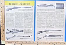 1976 The Enfield Model 1917 Battle Rifle Part 1-of-2 4-Pg Magazine Article 9526