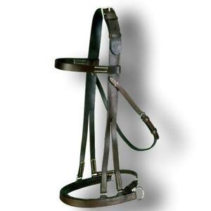 EquiRoyal Hackamore Jump Bridle Dark Oil Full Size Horse Tack Equine