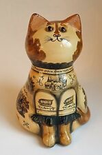 1970 RYE Papier Mache CAT Joan & David de Bethel RARE EARLY Farming  ENGLAND