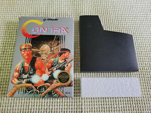 Contra - Nintendo - NES - Authentic - Box Only - Round Seal!