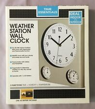 Weather Station Wall Clock - Time Essentials