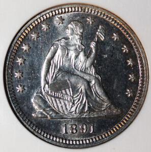 1891 Liberty Seated Quarter Proof NGC PR63