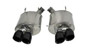 """Corsa 3"""" Black Axle-Back Exhaust for 2013-14 Ford Mustang Shelby GT500"""